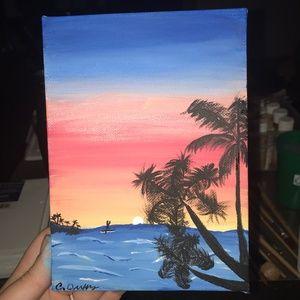 Sunset Ocean Art